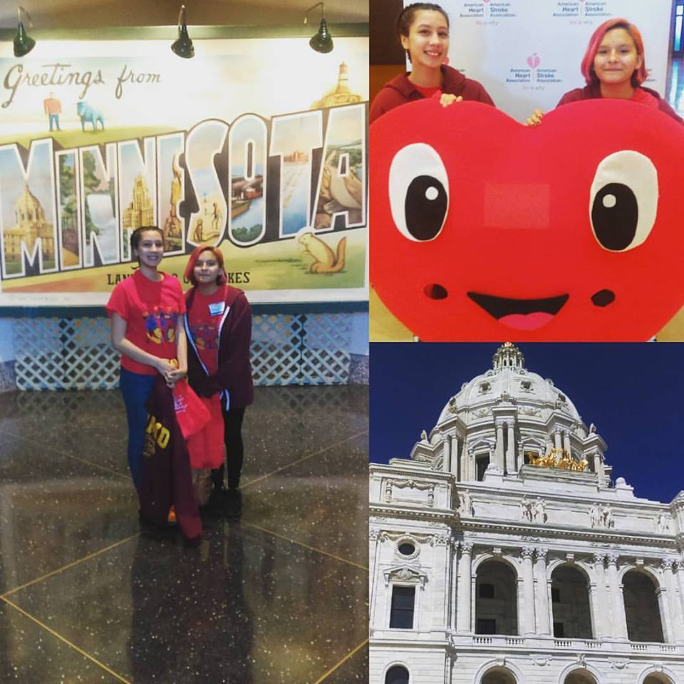 Youth Leaders advocated at the MN Capitol building for the Good Food Access Fund.